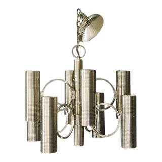 Gaetano Sciolari for Lightolier Brass Chandelier
