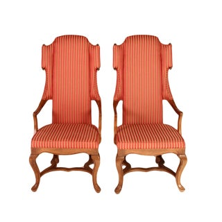 Drexel Wingback Arm Chairs - a Pair