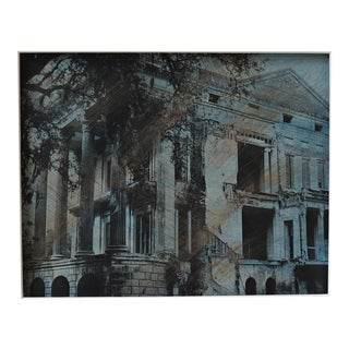 """Grandeur and Decay"" Hand-Colored Photographic Framed Print"