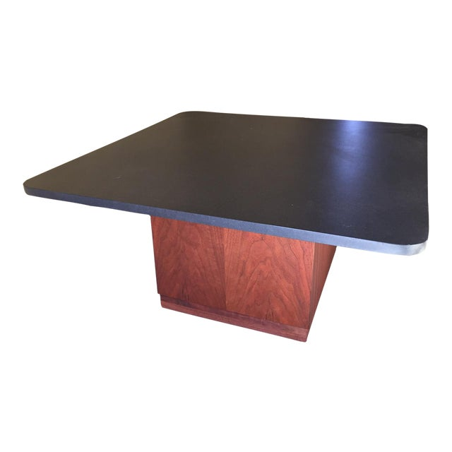 Mid century modern slate top coffee table chairish Slate top coffee tables