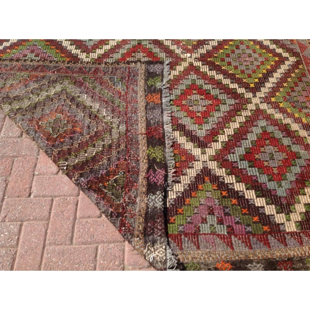 Vintage Turkish Kilim Rug - 6′9″ × 9′11″ - Image 6 of 6