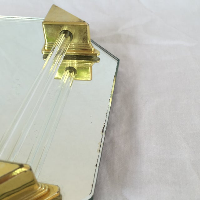 Vanity Tray With Lucite and Faux Brass Handles - Image 5 of 7