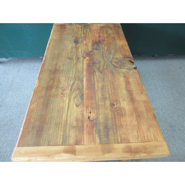 Rustic Reclaimed Pine Peg-Jointed Coffee Table - Image 6 of 11