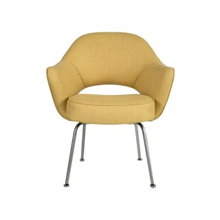 Saarinen for Knoll Executive Arm Chair in Yellow Microfiber