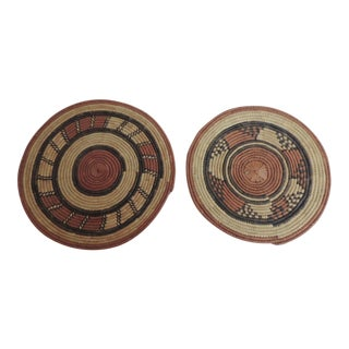 Vintage African Placemats or Wall Accents - A Pair