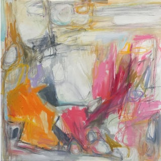 """""""By the Fire"""" Abstract Painting by Trixie Pitts"""