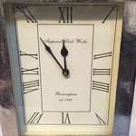 Image of Large Silver Mantle Clock