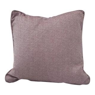 Irene Purple Herringbone Pillow