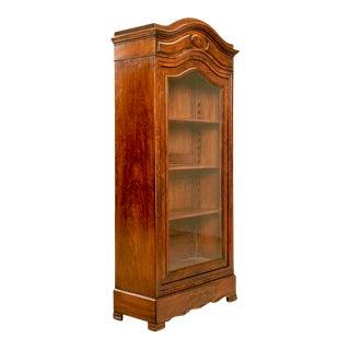 Antique French Glazed Mahogany Cabinet