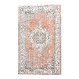 Vintage Distressed Anatolian Pile Area Rug - 5′2″ × 8′2″