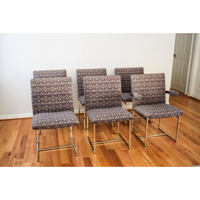 Mid-Century Milo Baughman Style Dining Chairs - Set of 6 - Image 3 of 11