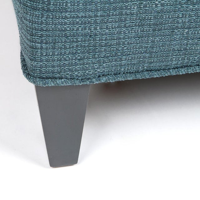 Teal Woven Armchairs - Pair - Image 10 of 10