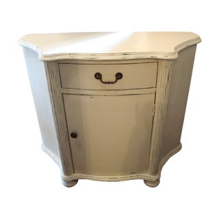 Whitewashed Shabby Chic Demilune Chest
