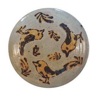 Mid-Century Modern Style Art Pottery Plate