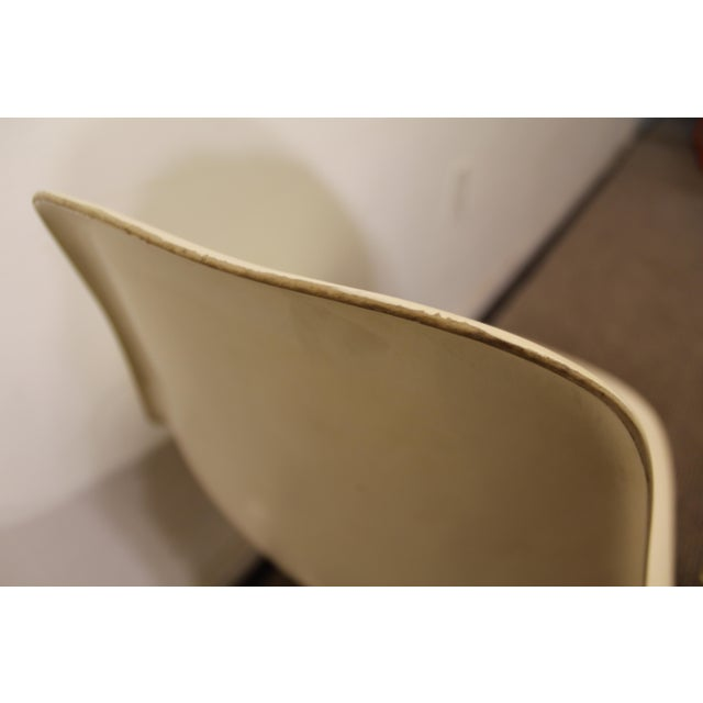 Burke Mid-Century Tulip Style Swivel Side/Dining Chairs - A Pair - Image 5 of 11