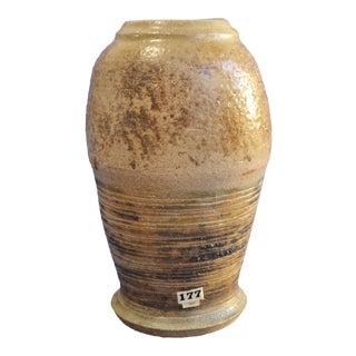 Vintage Sgraffito Detail Studio Pottery Vase
