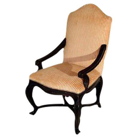 Louis XVI Style Walnut Fauteuil - Image 1 of 4