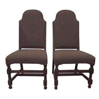 Spanish Boho High-Backed Chairs - a Pair