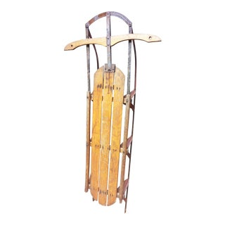 Vintage Weathered Wood & Metal Runner Sled