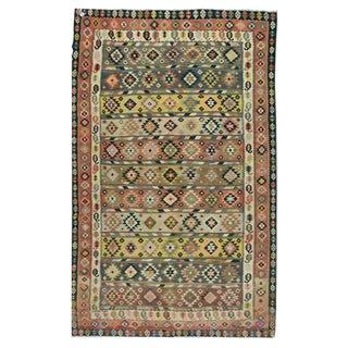 "Vintage Persian Kilim - 7'3"" x 12'4"""