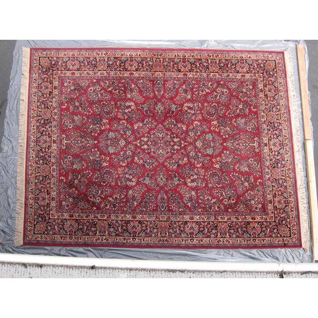 Karastan Red Sarouk Pattern - 8′9″ × 12′ - Image 7 of 8