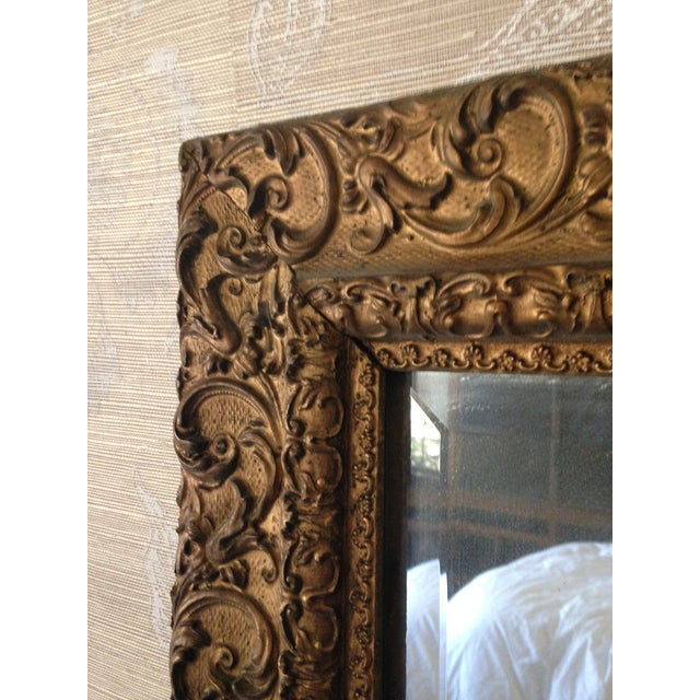 Image of Antique Mirror with Ornate Frame
