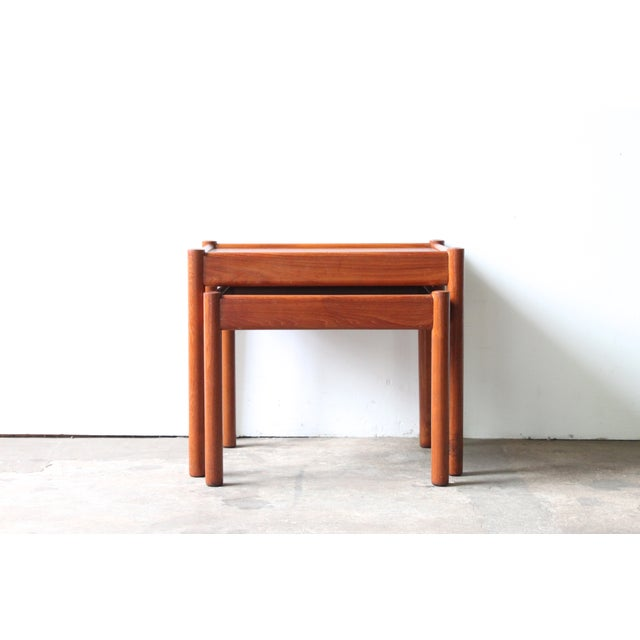 Teak Nesting Tables - A Pair - Image 2 of 4