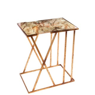 Statements By J Karla Side Table With Faux Marble Top