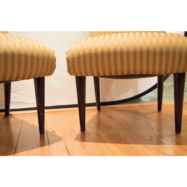 Viennese Biedermeier Style Art Deco Flare Slipper Chairs - a Pair - Image 3 of 9