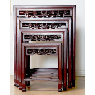Rosewood Nesting Tables - Set of 4