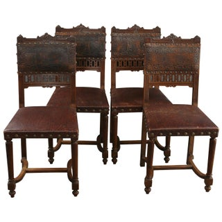 Antique French Renaissance Dining Chairs - S/4