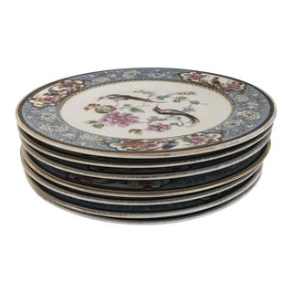 Vintage Hutschenreuther Ornithological/Bird Bavarian Selb Porcelain Bread Plates - Set of 7