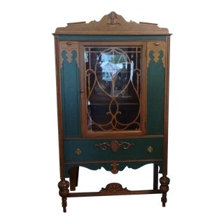 Antique Jacobean Curio Cabinet