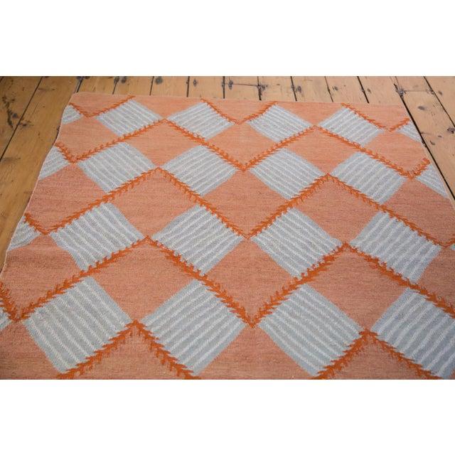 """Hand Woven Diamond Kilim Rug - 4'1"""" x 6' - Image 2 of 6"""