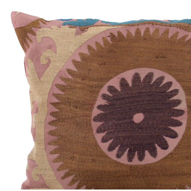 Image of Vintage Cotton Embroidered Pillow