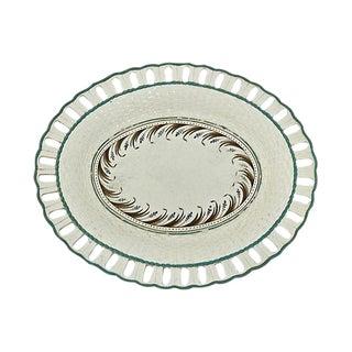 Circa 1780 Antique Creamware Pierced Edge Plate