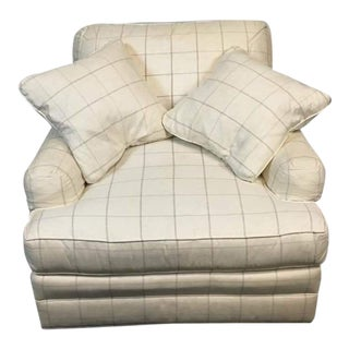 Frederick Edward White Upholstered Armchair & Pillows