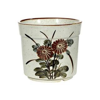 1960s Floral Ceramic Planter