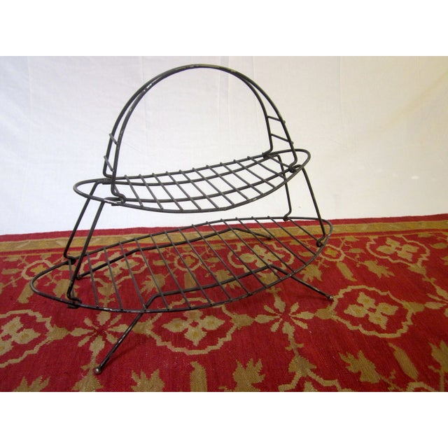 Mid-Century Modern Modernist Wire Magazine Rack - Image 6 of 6