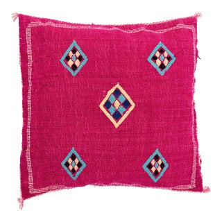 Hot Pink Moroccan Wool Pillow Color