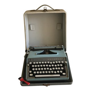 Vintage Remington Blue Typewriter