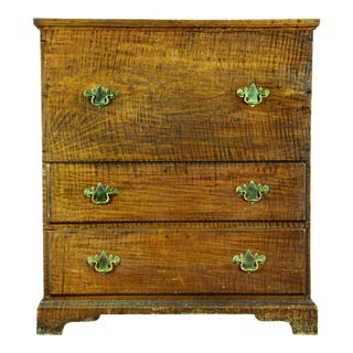 Tiger Maple Blanket Chest with Two Drawers
