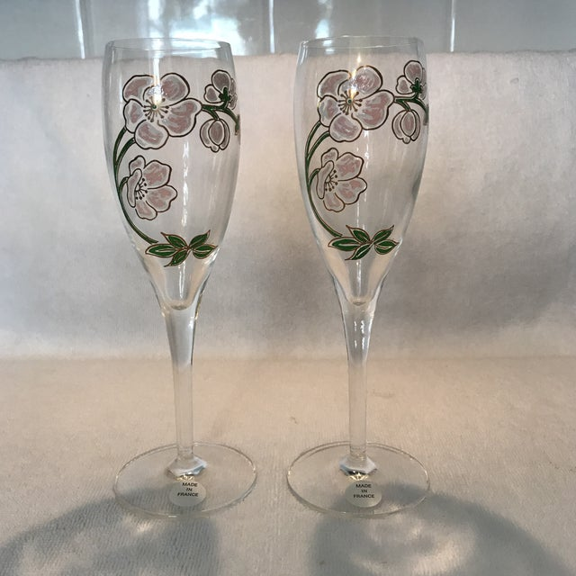 Perrier Jouet Champagne Flutes- A Pair - Image 2 of 10