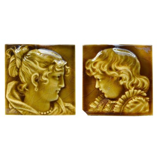 Set of Two Tiles by Trent Tile Company