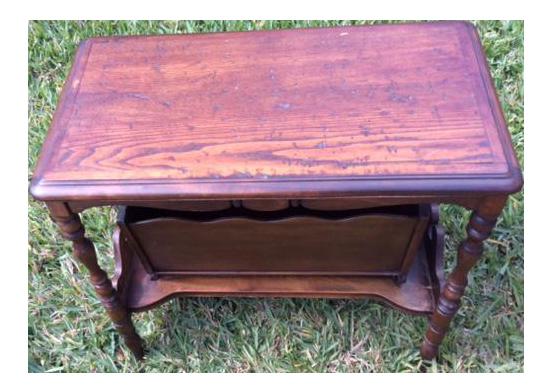 Antique Wood Magazine Side Table