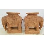Image of Hollywood Regency Wicker Elephant - A Pair