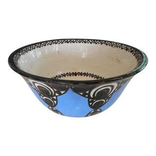 Majolica Blue Mid-Century Bowl