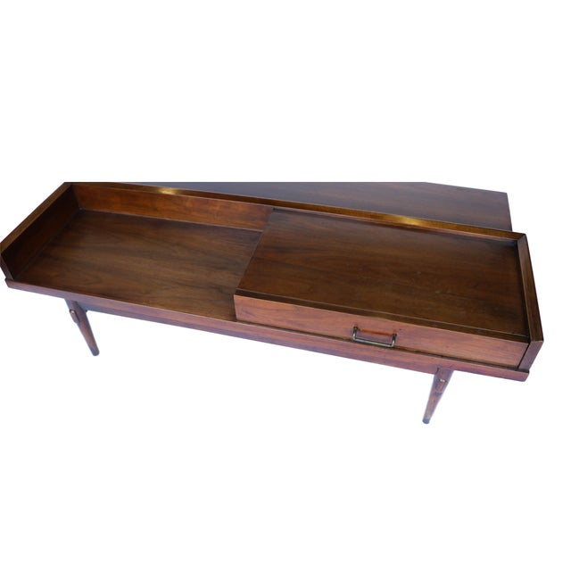 Mid Century Modern Coffee Table With Storage: Mid Century Modern Coffee Table Bench