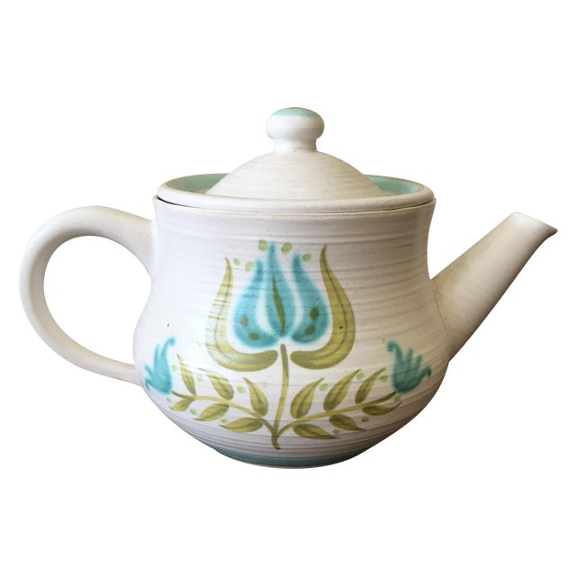 Image of Franciscan Earthenware Mid-Century Floral Teapot
