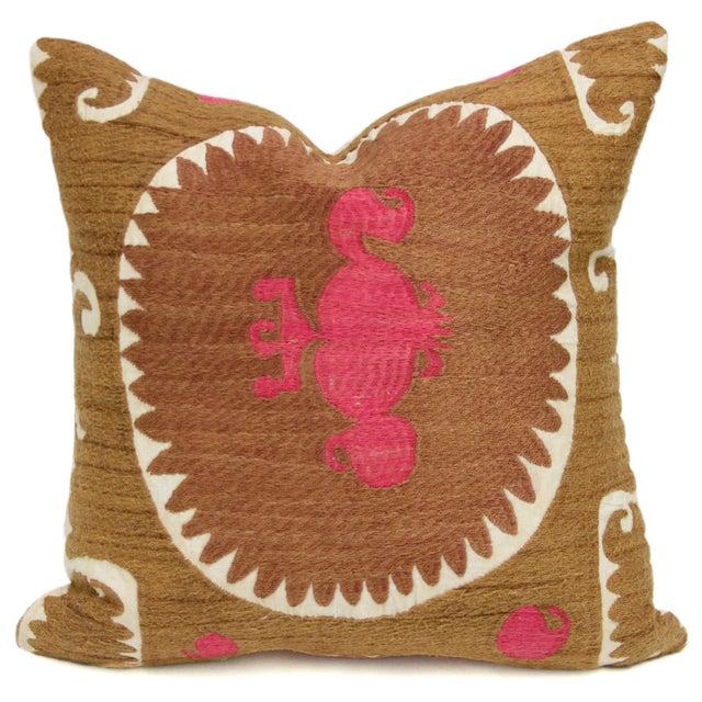 Vintage Suzani Surahi Pillow - Image 1 of 2